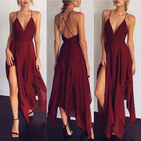 Fashion Sexy Summer Ladies Dress Women Boho Long  Party Club Casual Beach Dress Beach Sundress