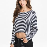 STRIPED CROP TOP - Long sleeve top by NLY TREND