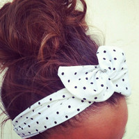 Polka Dot Dolly Bow Headband by Eindre on Etsy