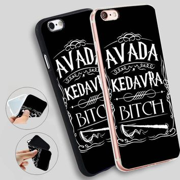 Minason Avada Kedavra Bitch For Harry Potter  Soft Silicone Case for iPhone X 5 S 5S XR XS Max 6 6S 7 8 Plus Cover Phone Fundas