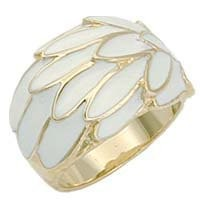 My Associates Store - Women's Classic Line Clear Epoxy Gold Tone Ring, Size: 5-10