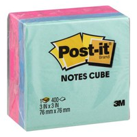 "Post-it Notes Cube Mixed Case, 3"" x 3"", Pink Wave and Orange Wave, 400 Sheets/Cube - Walmart.com"