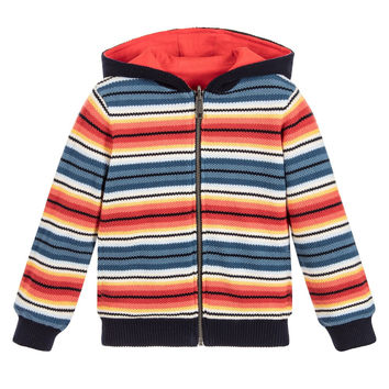 Paul Smith Baby Boys Reversible Red & Striped Hoodie