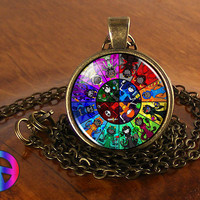 Homestuck God Wheel Game Comic Necklace Pendant Charm Jewelry Cosplay Anime Gift