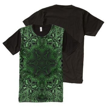Green Kaleidoscope All-Over Print Shirt