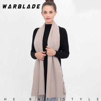 hot 2018 warmer winter women scarf solid soft cashmere scarves shawls lady pashmina wraps echarpe female foulard female bandana