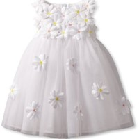 Biscotti Baby Girls' Crazy For Daisies Ballerina, White, 12 Months