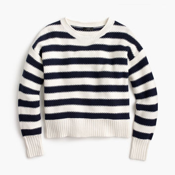 Textured striped sweater