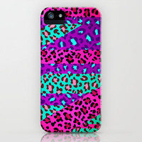 Wild Animal Print Neon Jaguar iPhone Case by Girly | Society6