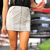 Katheryn's Going Out Skirt: Grey | Hope's