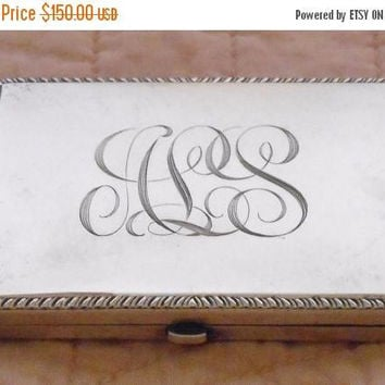 Sterling Silver Powder Compact With Mirror R. Blackinton & Co 1940's With Monogrammed And Dated