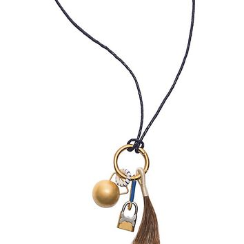 Tory Burch Tassel & Charm Necklace
