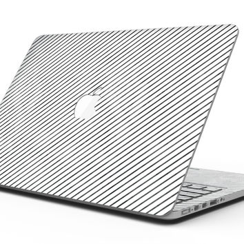 Black and White Diagonal Stripes - MacBook Pro with Retina Display Full-Coverage Skin Kit