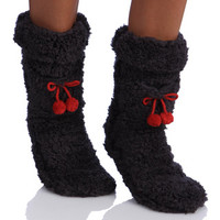 MINX Women's Super Fluffy Socks | Overstock.com