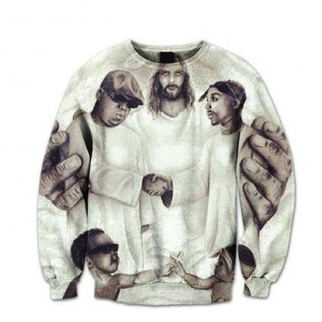 Biggie & Tupac – Heaven Aint Hard to Find Crewneck