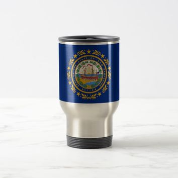 Travel Mug with Flag of New Hampshire State - USA