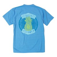 PINEAPPLE TEE SHIRT IN BONNIE BLUE BY THE SOUTHERN SHIRT CO.