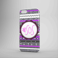 5 Second Of Summer Aztec Purple iPhone Case Samsung Case 3D Case