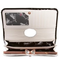 Ted Baker Titiana Black Crystal Bow Bobble Leather Purse