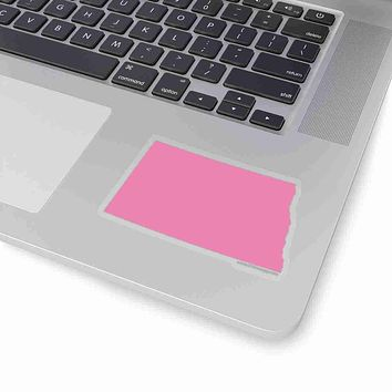 North Dakota State Shape Sticker PINK