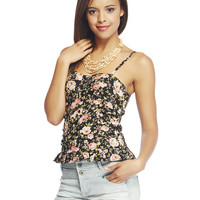 Floral Bustier Tank | Wet Seal