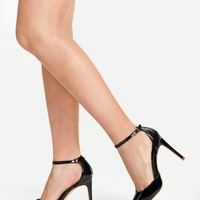 Pointed Toe Ankle Strap Stiletto Heels