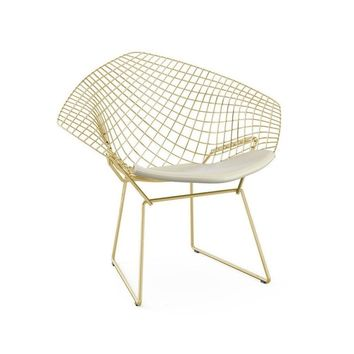"Modern Gold Reproduction ""Harry Bertoia Diamond Lounge Chair"""