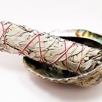 """California WHITE SAGE Smudge Wand Stick 9"""" CLEANSING Incense Wicca Pagan Witch"""