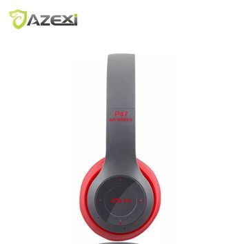 Wireless Headphone Folding Headset Support TF card 3.5mm Wired FM radio with MIC Battery status most Bluetooth devices mp3 music