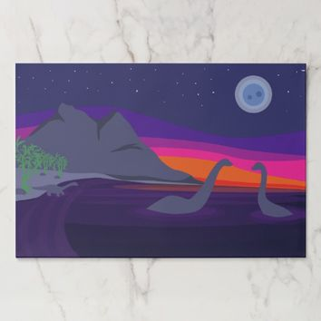 Jurassic Sunset Paper Placemat