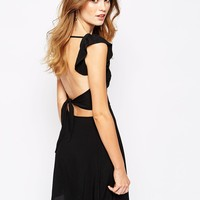 For Love and Lemons Midnight Tide Dress with Tie Back