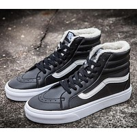Vans Leather With Fur Warm Casual Shoes-1