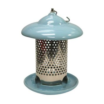 Heath™ 20146 Bird Stop Ceramic Feeder with 3-Feeding Ports, Light Blue