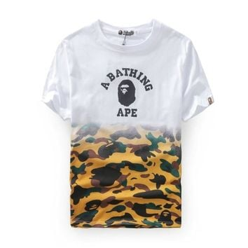kuyou A Bathing Ape Half Camo College T-Shirt