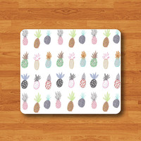 Pineapple Drawing Cartoon Mouse Pad Love Fruit Printed Rubber MousePad For Girl Desk Deco Work Pad Mat Rectangle Personal Gift Hipster Teen