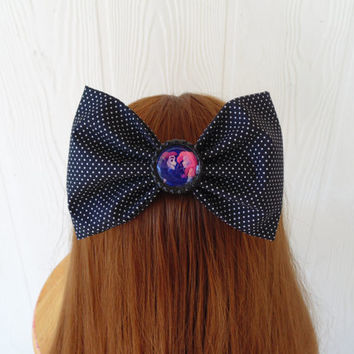Jack Skellington hair bow / the little mermaid hair bow / hair bow / dots / Jack and sally / bow / Girl hairbow clip / fabric bow / eric
