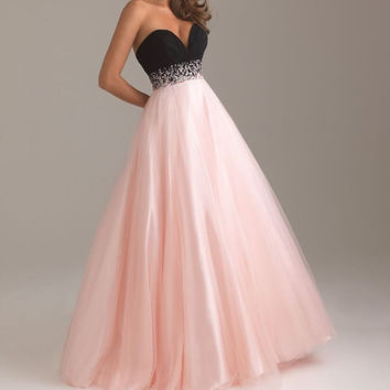 New Design Sexy Long Prom Gown Vestidos Sweetheart Beading Crystal Tulle Evening Gown A Line Formal Evening Dresses 2016 OL3356