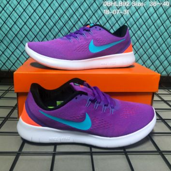 KUYOU N151 Nike Air Free 5.0 Flyknit Breathable Causal Running Shoes Sneaker Purple Blue