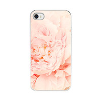 iPhone Case 4 4s pink peony flower shabby chic by kimberlyblok