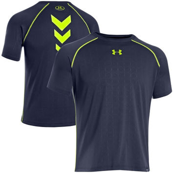 Under Armour Combine Authentic Training Performance T-Shirt - Navy Blue