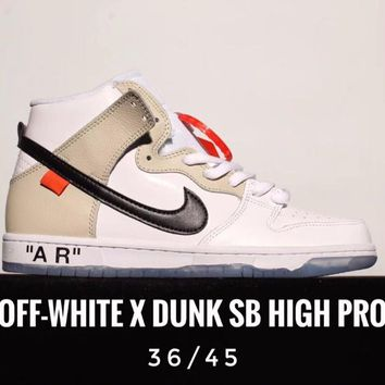 [ Free  Shipping ]Off-White  x Nike  ow x Dunk SB High  PRO Sneaker