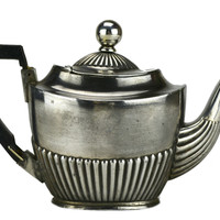 Silver Plated Personal Small Teapot by Hammond Creake Antique English Victorian
