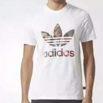 ADIDAS Clover Counter Sports Men Fashion Trendy Short Sleeve F-ADD-MRY white