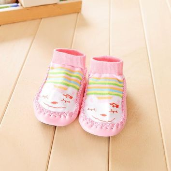 Cartoon Kids Toddler Baby Anti-slip Sock Shoes Boots Slipper Socks children footwear kids shoes