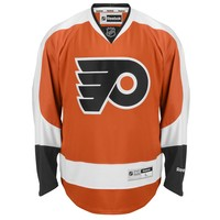 Philadelphia Flyers Reebok Premier Youth Replica Home NHL Hockey Jersey (Orange)