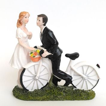 new Bicycle Kiss- Custom Couple Cake Topper