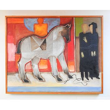 Abstract Horse & Figures Painting