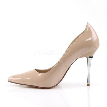 "Appeal 20 Nude Patent Pointy Toe Pumps 4"" High Heel Shoes"