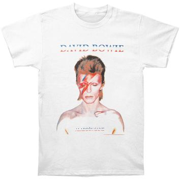David Bowie Men's  David Bowie Alladinsane T-shirt T-shirt White