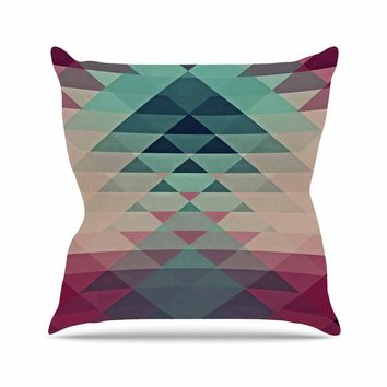 "Kess InHouse Nika Martinez ""Hipster"" Maroon Teal Throw Pillow, 16 by 16"""